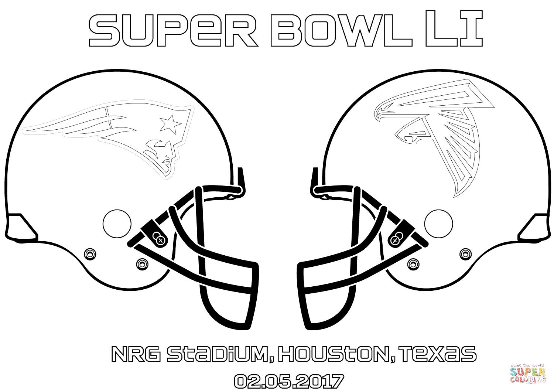 Super Bowl Li New England Patriots Vs Atlanta Falcons Coloring Page