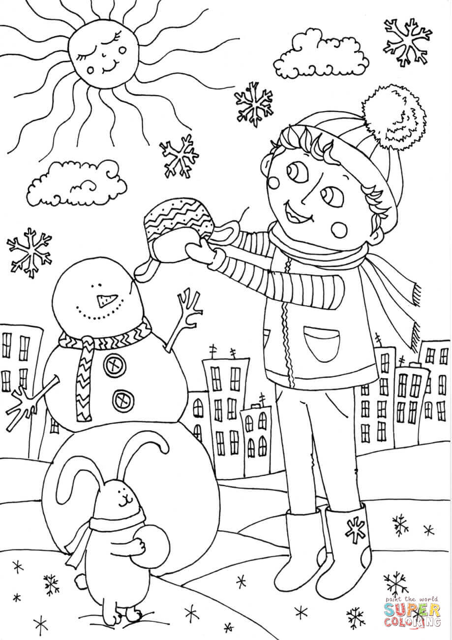 Peter Boy In January Coloring Page Free Printable Coloring Pages