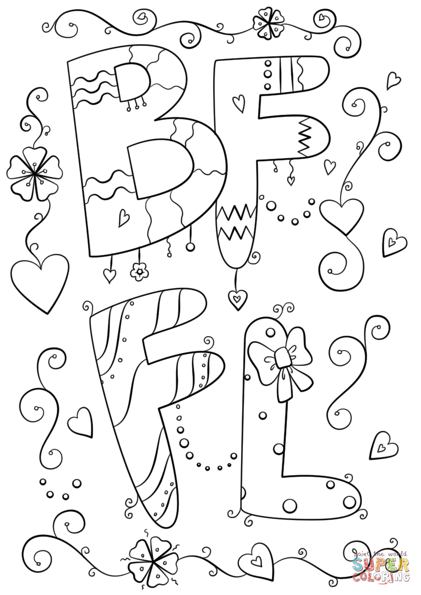 Bffl Coloring Page Free Printable Coloring Pages