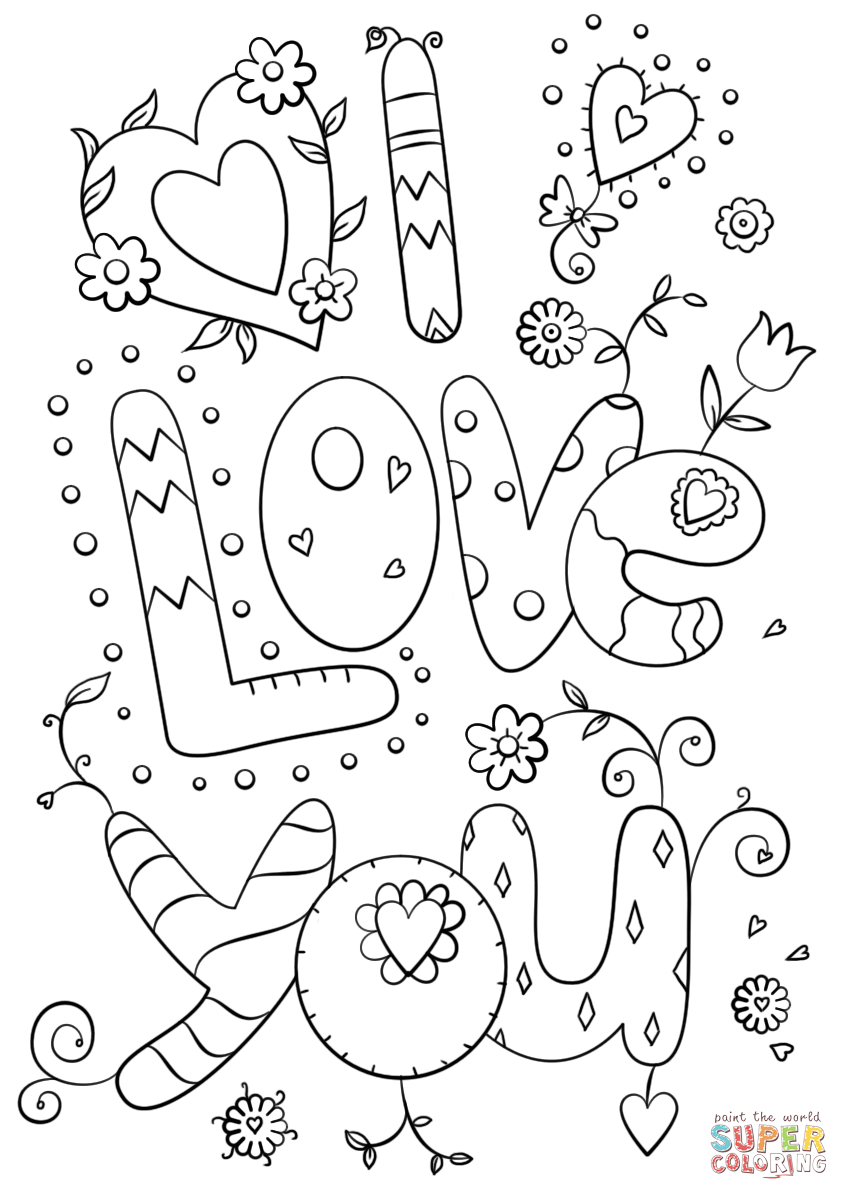 I love you coloring page free printable coloring pages, love you coloring pages