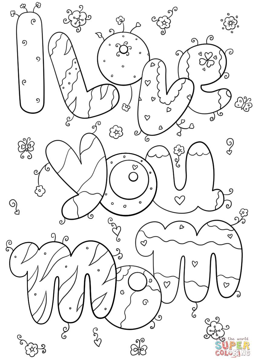 I love you mom coloring page free printable coloring pages, coloring pages love you