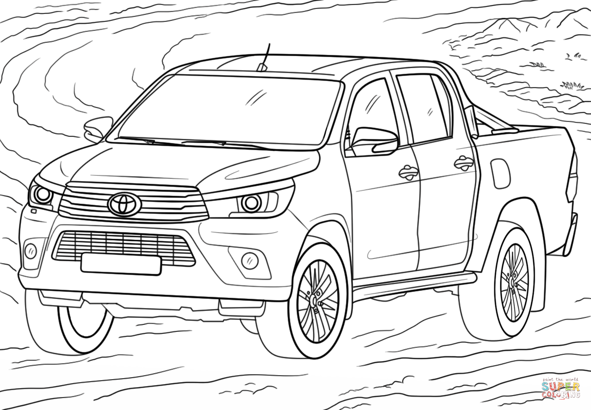 Toyota Hilux Coloring Page