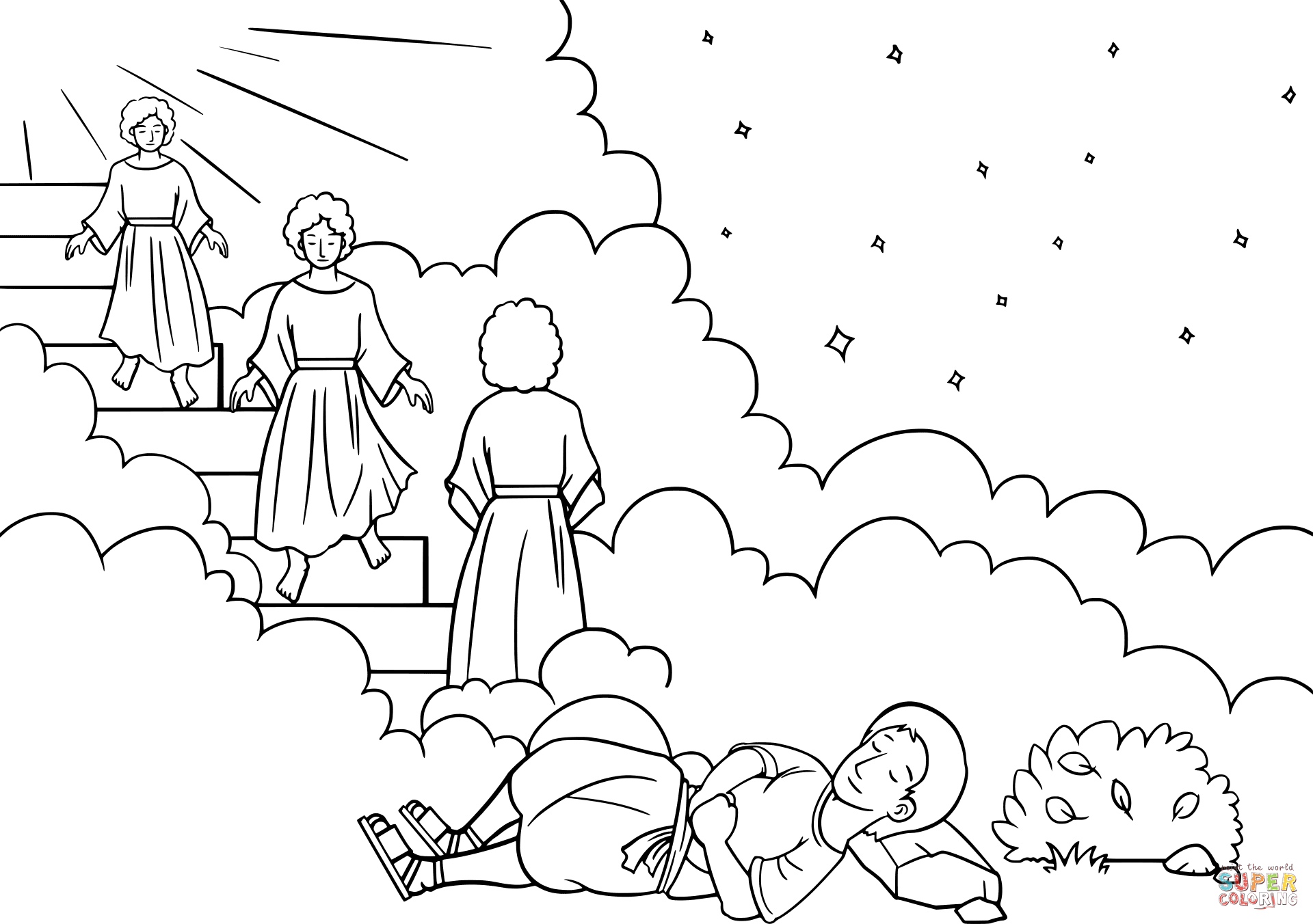 Jacob S Ladder Dream Coloring Page