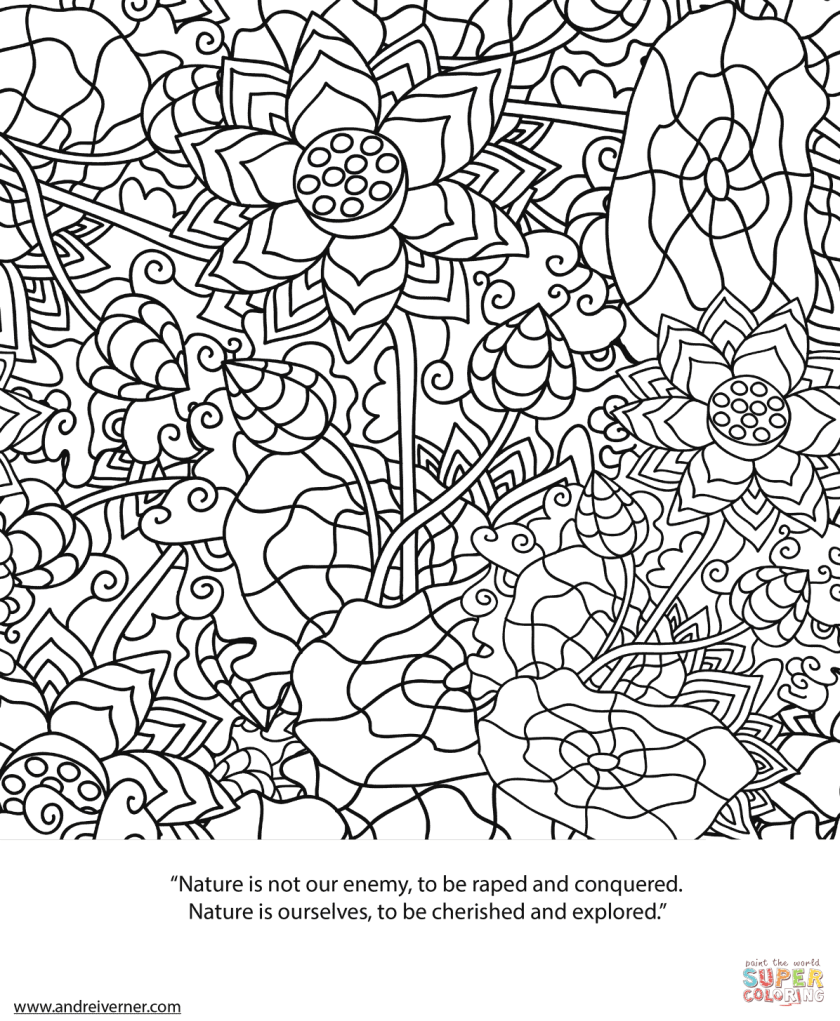 psychedelic ornaments coloring page  free printable