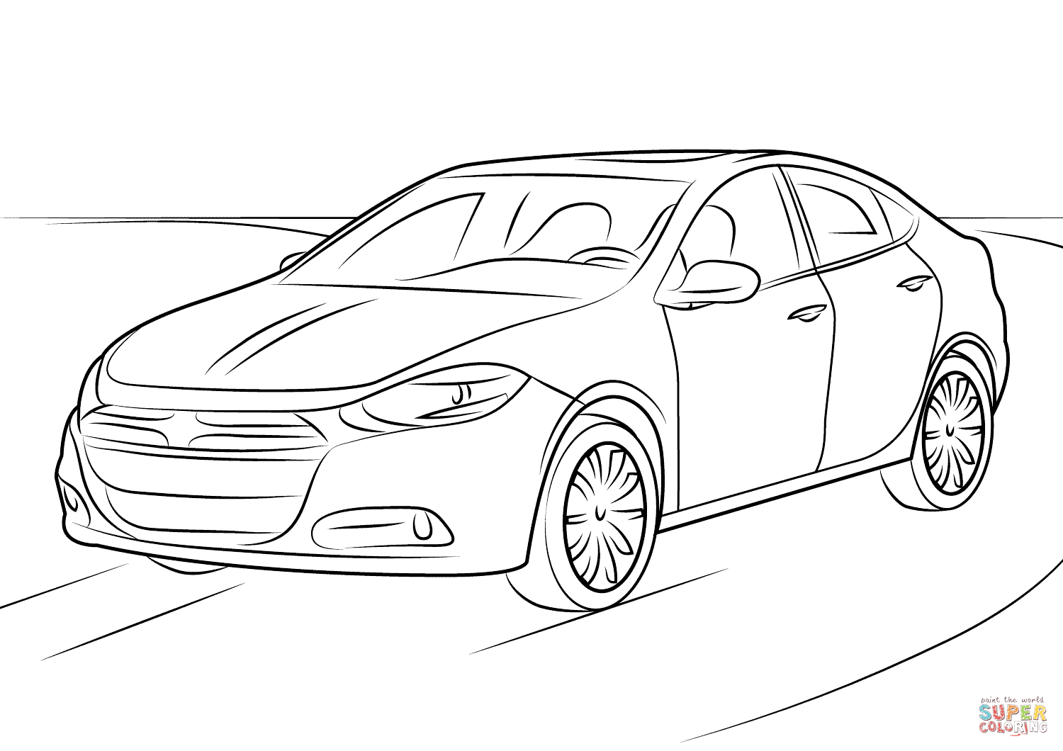 Dodge Charger General Lee Coloring Page Coloring Pages