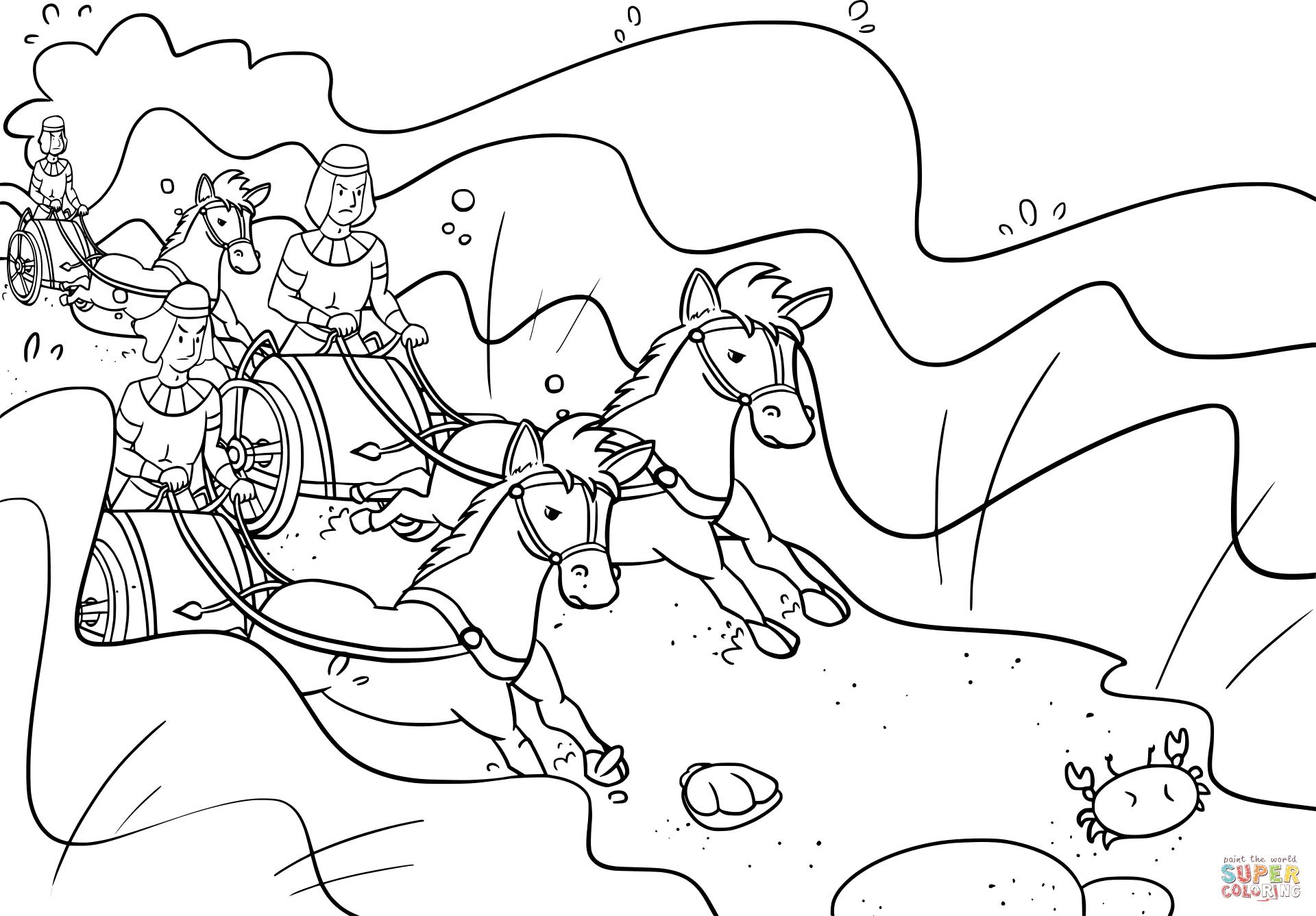 Pharaoh S Chariots Followed Israelites Into The Sea