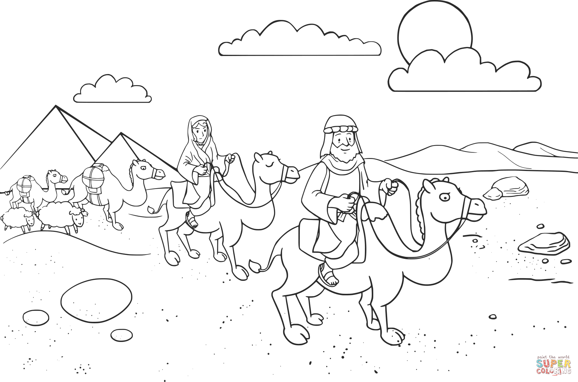 Abram Amp Sarai Leaving Egypt Coloring Page