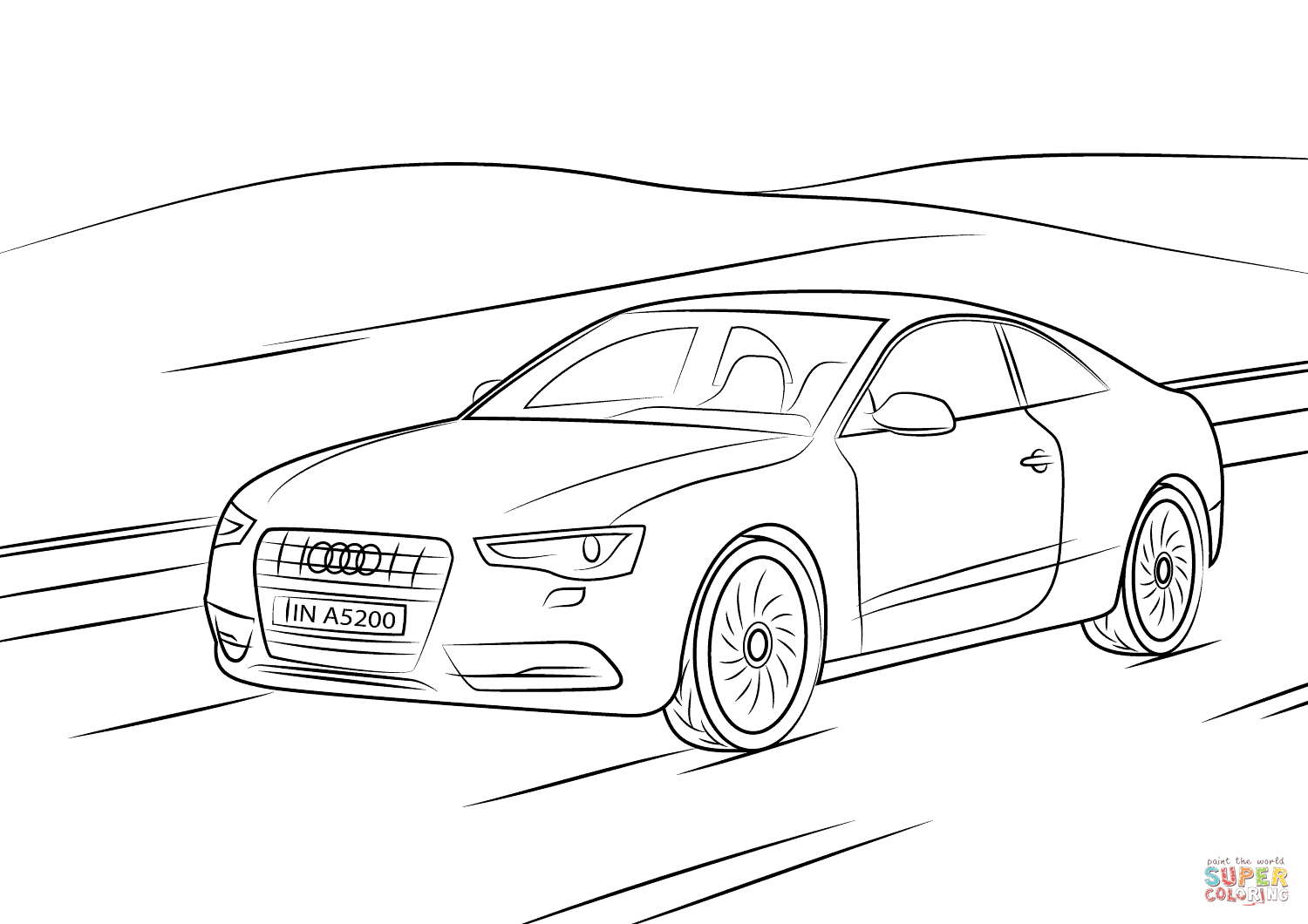 Audi A5 Coloring Page
