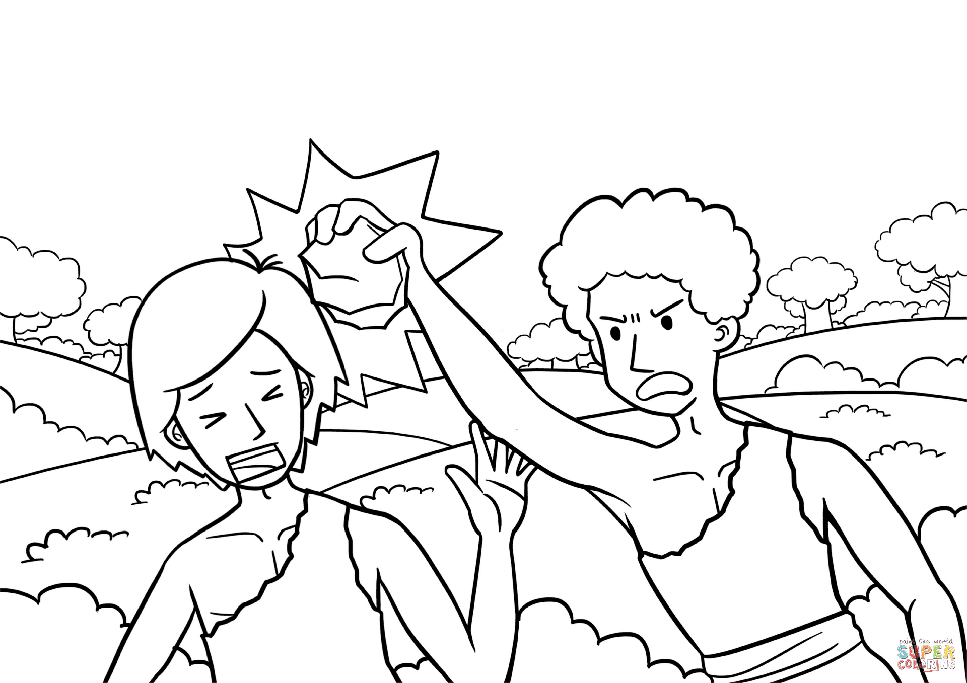 79 Adam And Eve Cain And Abel Coloring Page