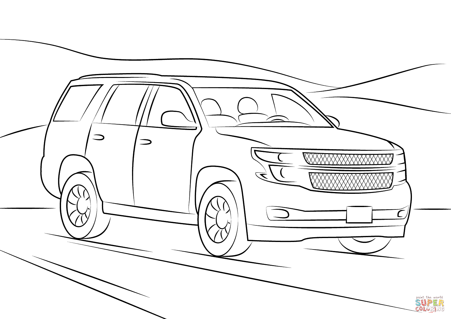 Chevrolet Tahoe Coloring Page