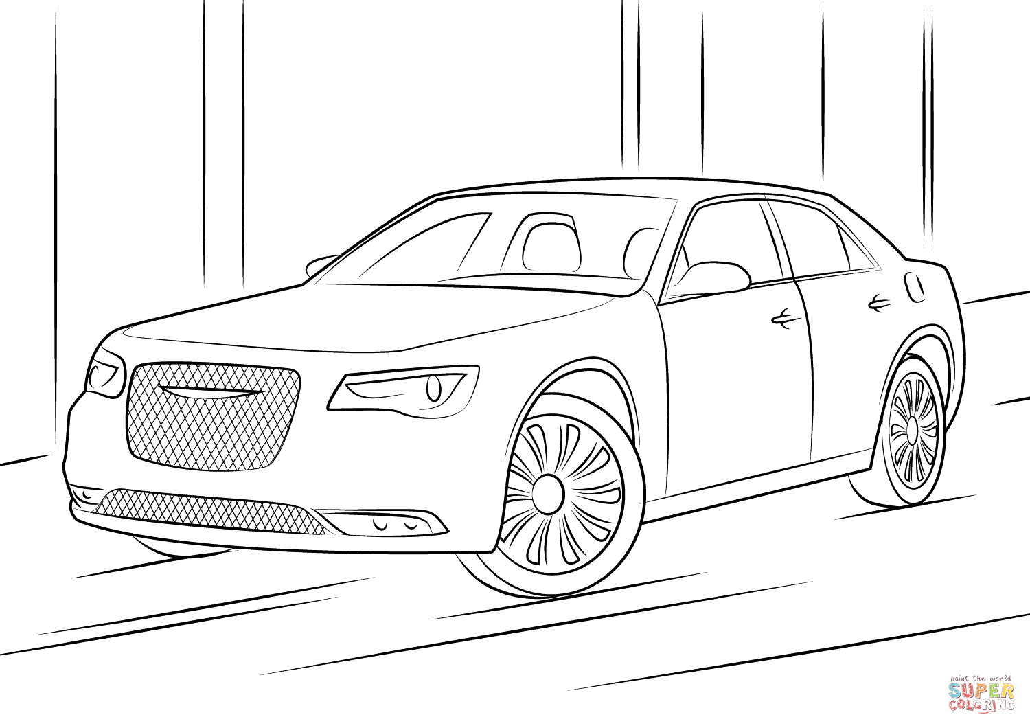 Chrysler 300 Coloring Page