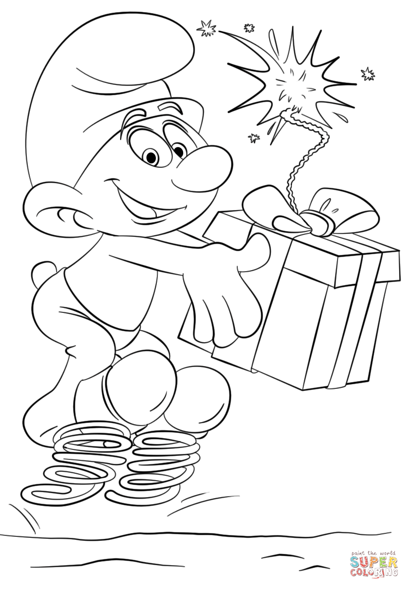 Clumsy Smurf Coloring Page Free Printable Coloring Pages