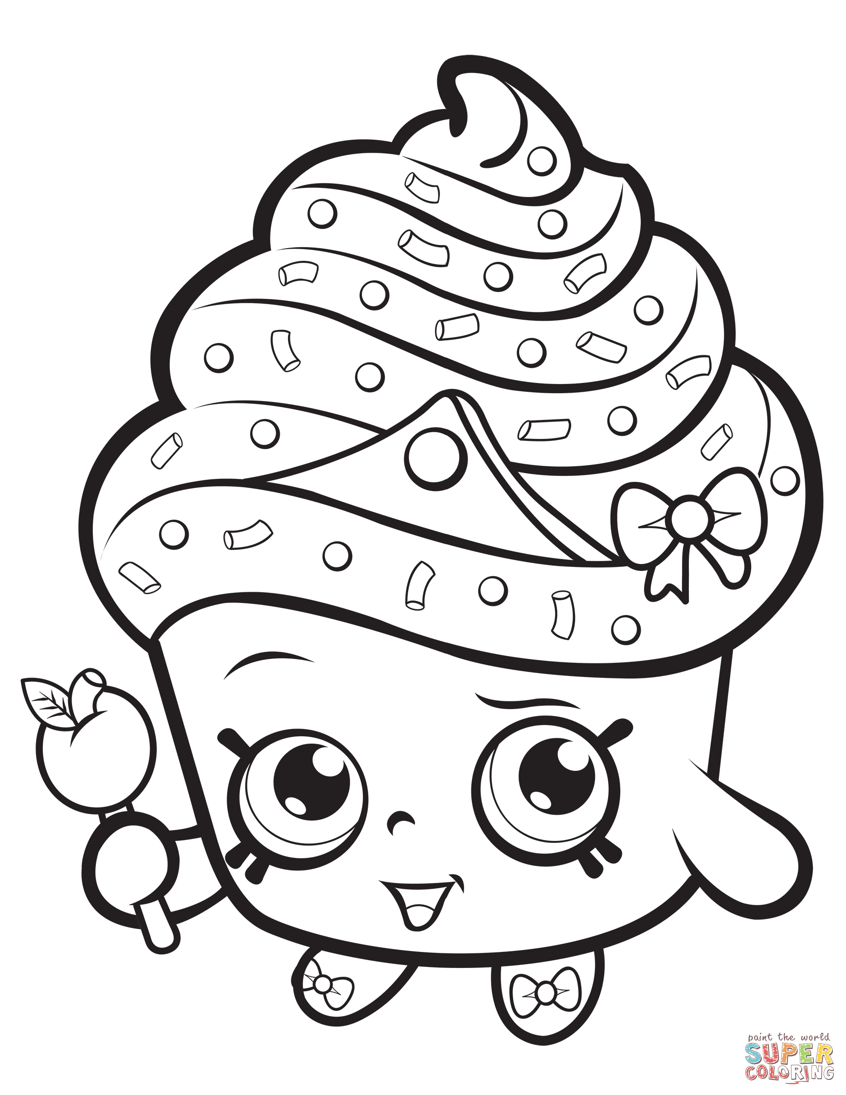 Cupcake Queen Shopkin Coloring Page Free Printable Coloring Pages