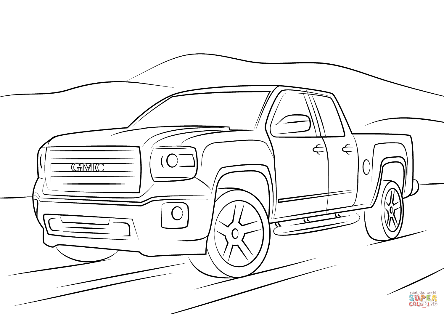 Gmc Sierra Coloring Page