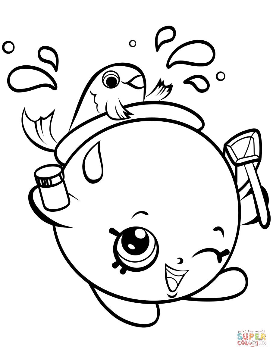 Goldie Fishbowl Pe Ins Shopkin Coloring Page Free Printable