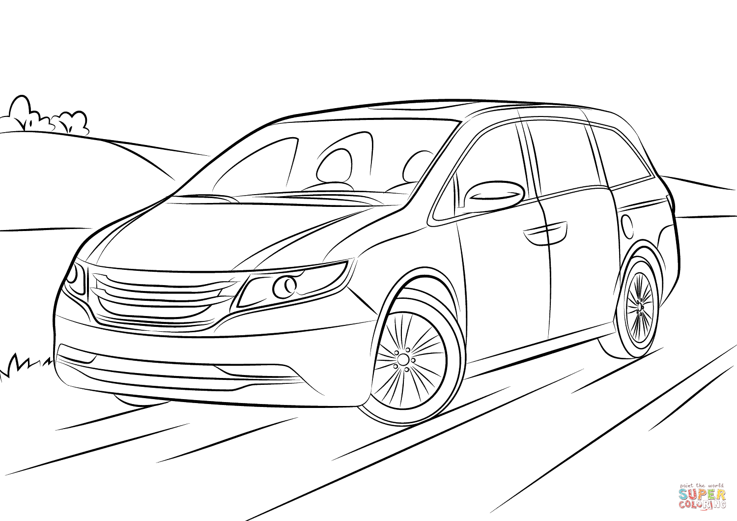 Honda Odyssey Coloring Page Free Printable Coloring Pages