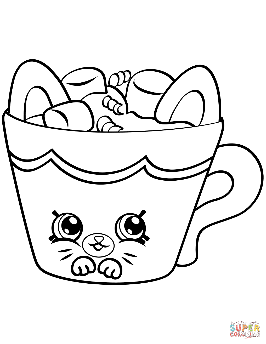 Hot Choc Pe Ins Shopkin Coloring Page Free Printable Coloring Pages