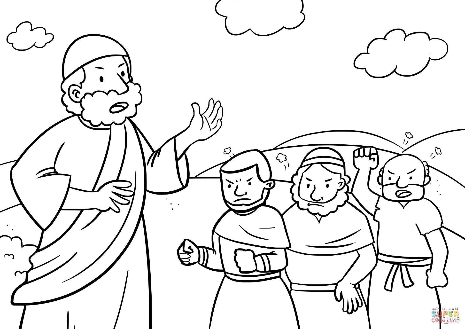 Israelites Complaining To Moses Coloring Page