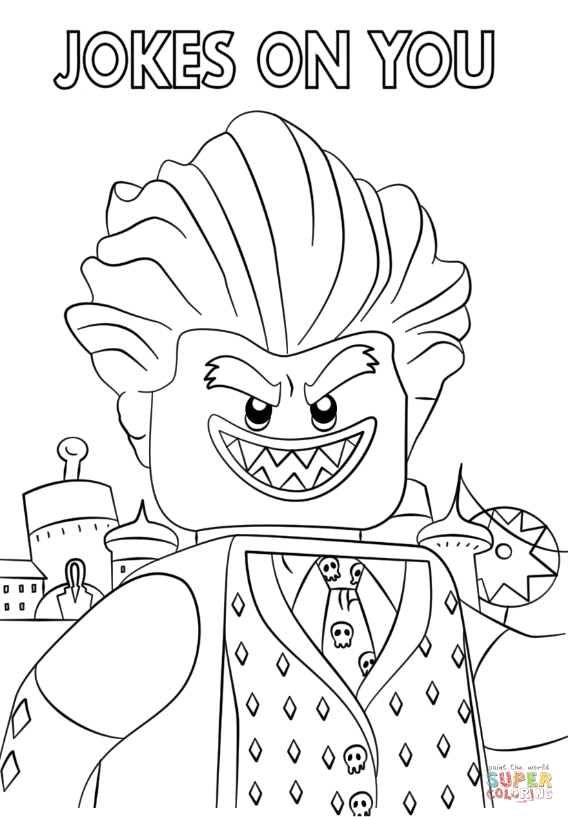 jocker from the lego batman movie coloring page  free