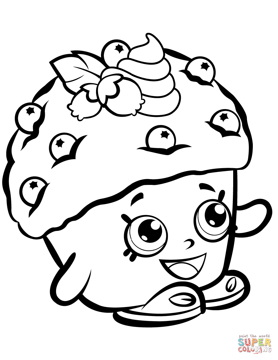Mini Muffin Shopkin Coloring Page Free Printable
