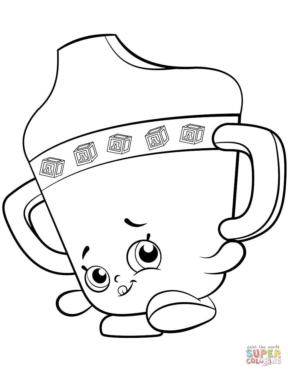 Sippy Sips Baby Shopkin Coloring Page Free Printable Coloring Pages