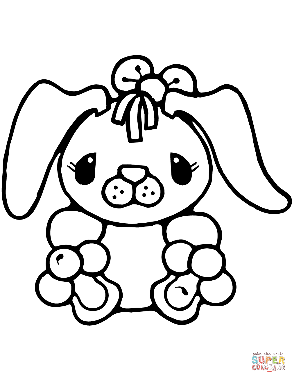 Tiny Bunny Rabbit Coloring Page Free Printable Coloring Pages