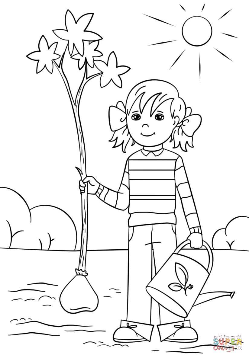free coloring pages download gir holding tree and bucket coloring page free printable coloring of