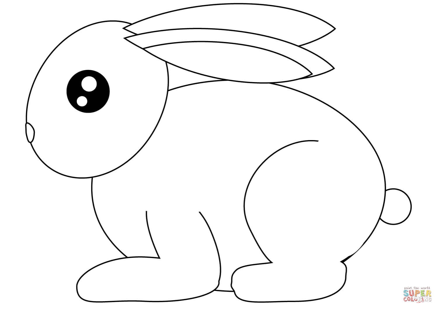 Small Rabbit Coloring Page