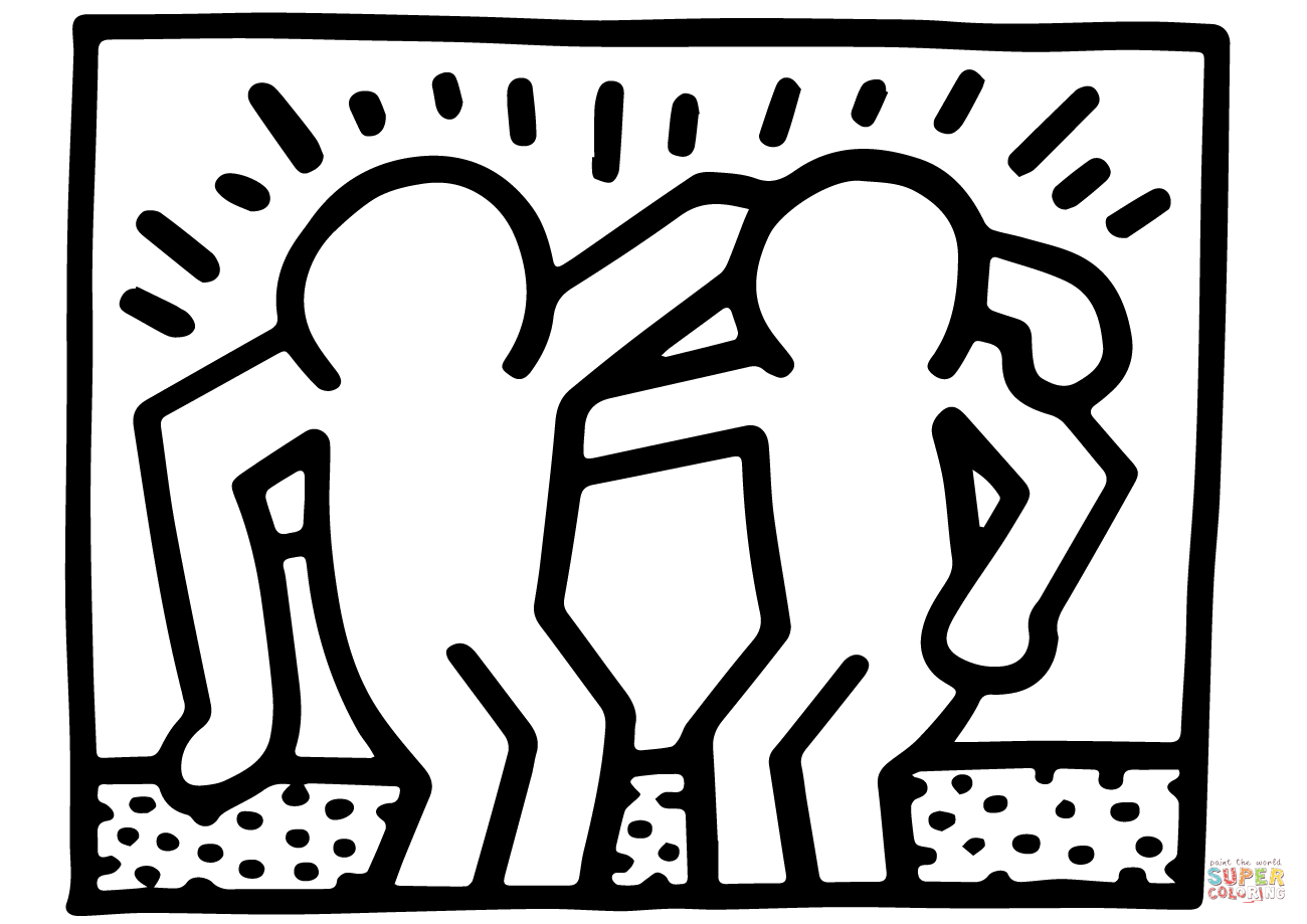 Best Bud S By Keith Haring Coloring Page
