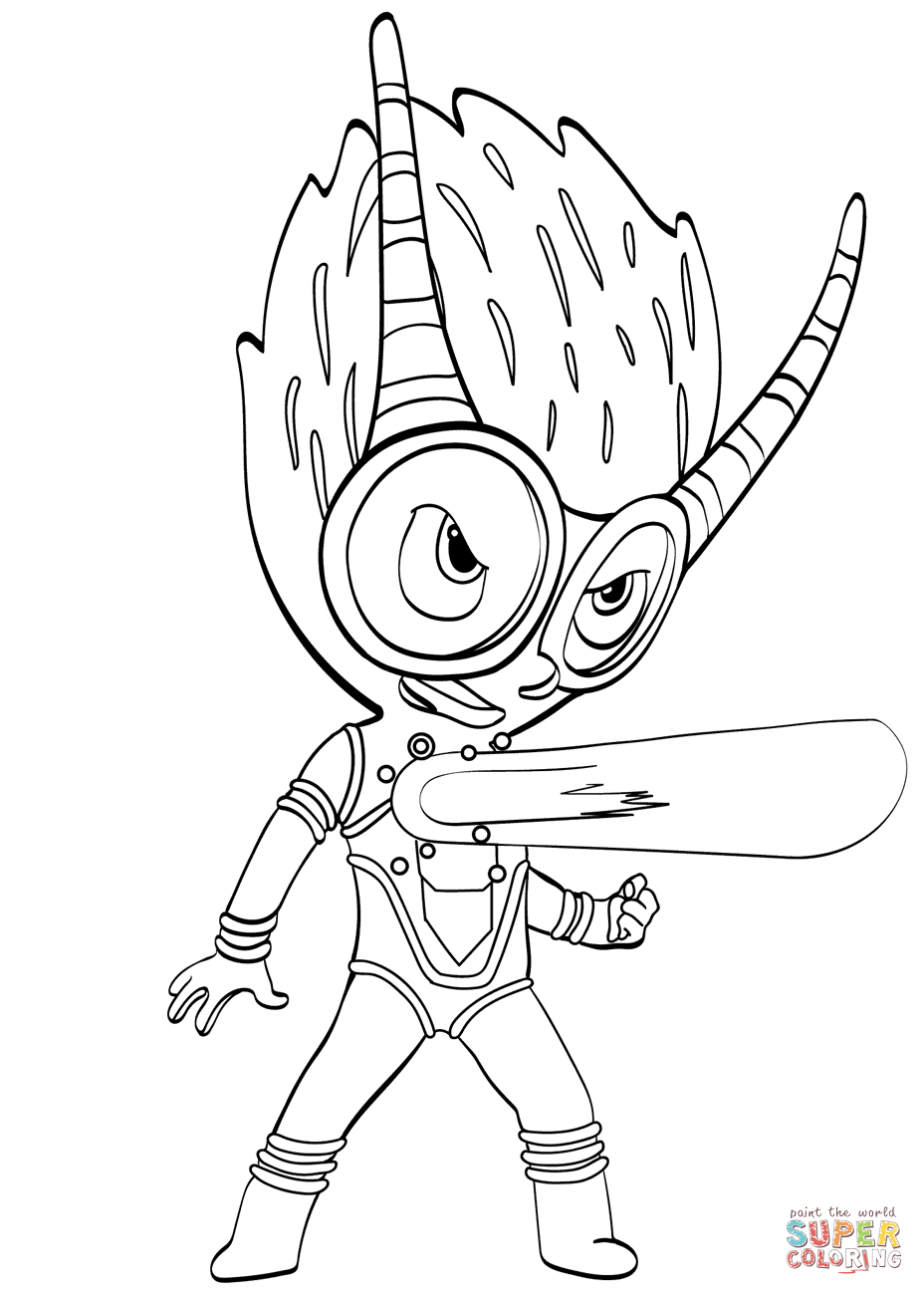 Firefly Villain From PJ Masks Coloring Page Free