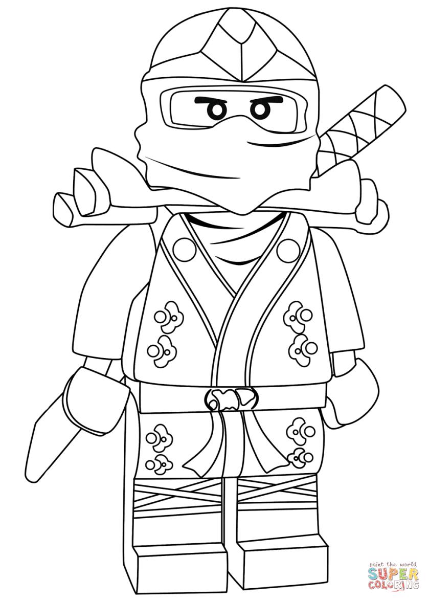 ninjago lloyd green ninja zx coloring page  free