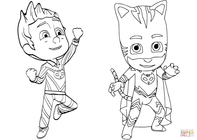 Pj Mask Coloring Pages To Print   Coloring Page for kids