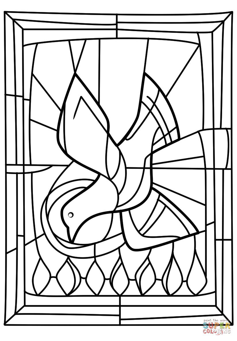 Pentecost Seven Gifts Of The Holy Spirit Coloring Page Free