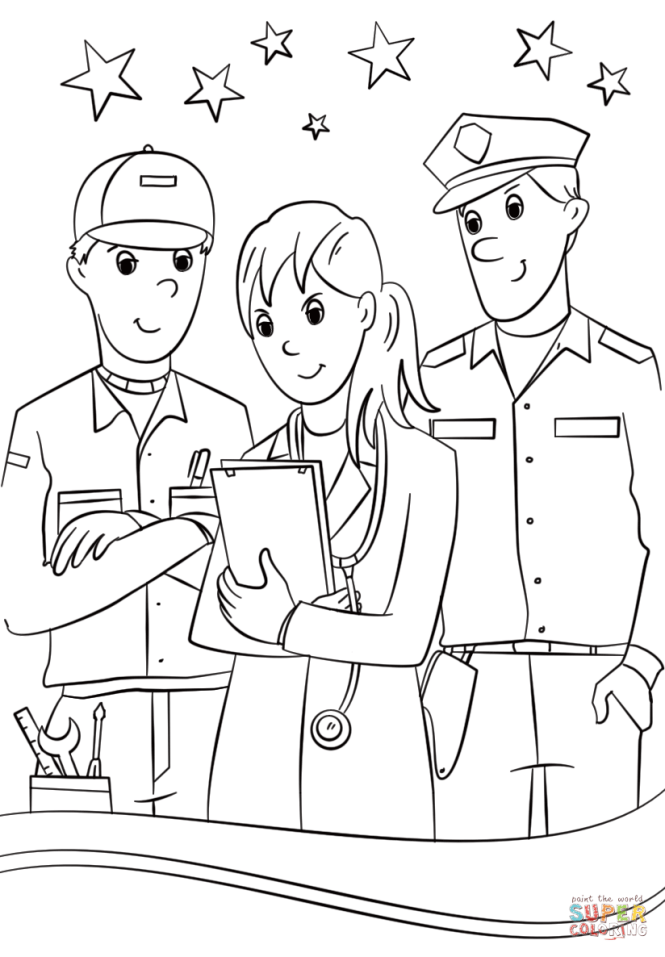 coloring pages community helpers | Coloring Page for kids