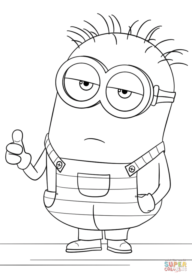 Minion from Despicable Me 30 coloring page  Free Printable