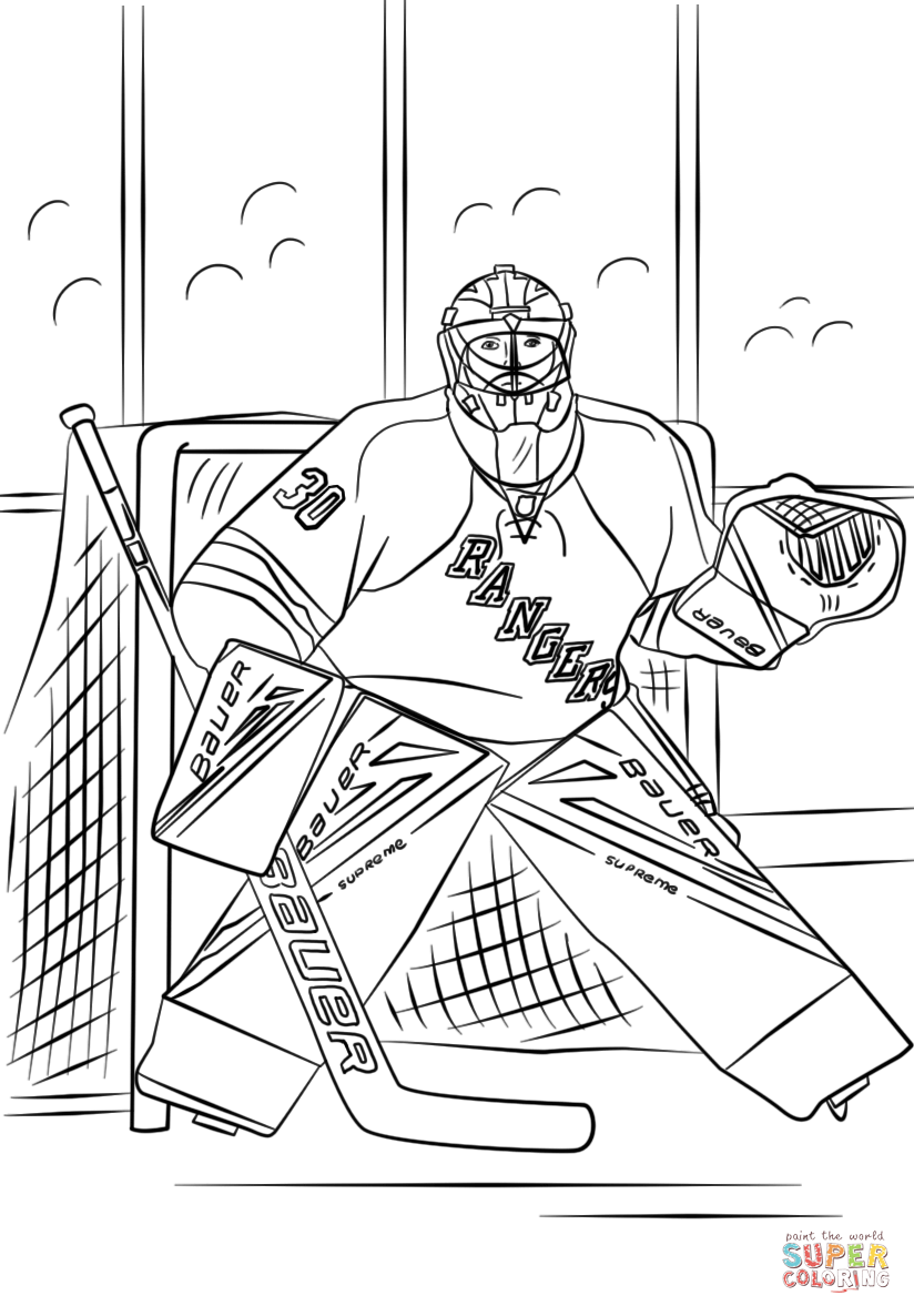 Henrik Lundqvist Coloring Page Free Printable Coloring Pages