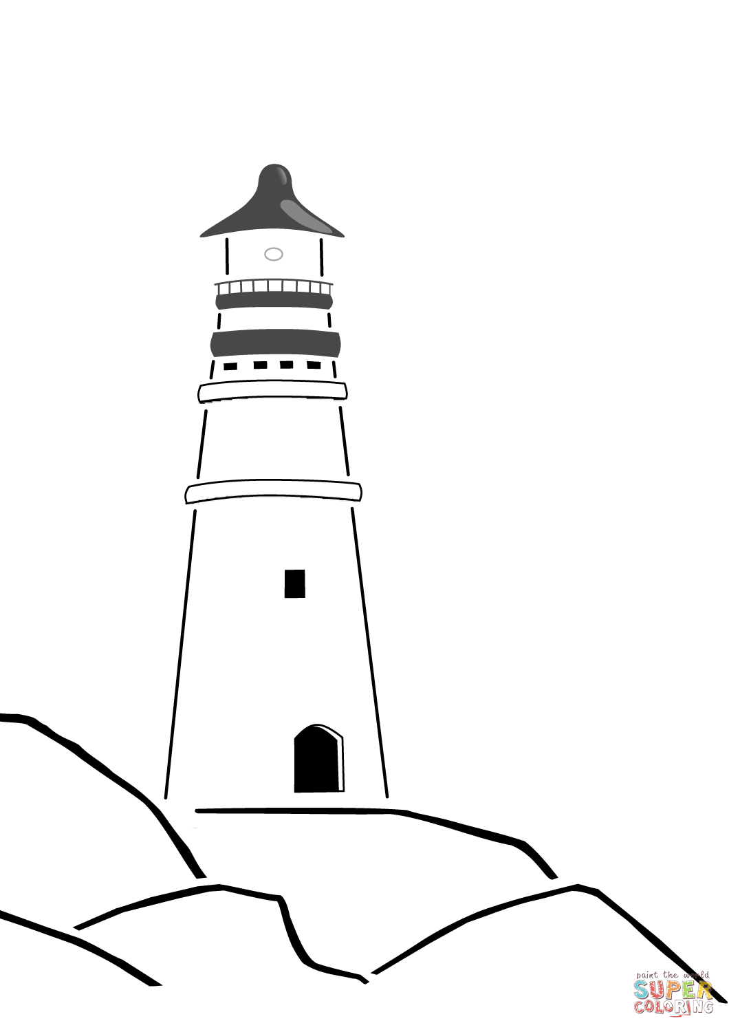 Coloring Pages Of Lighthouse Of Alexandria Coloring Pages Of Lighthouse Of Alexandria Swimming With