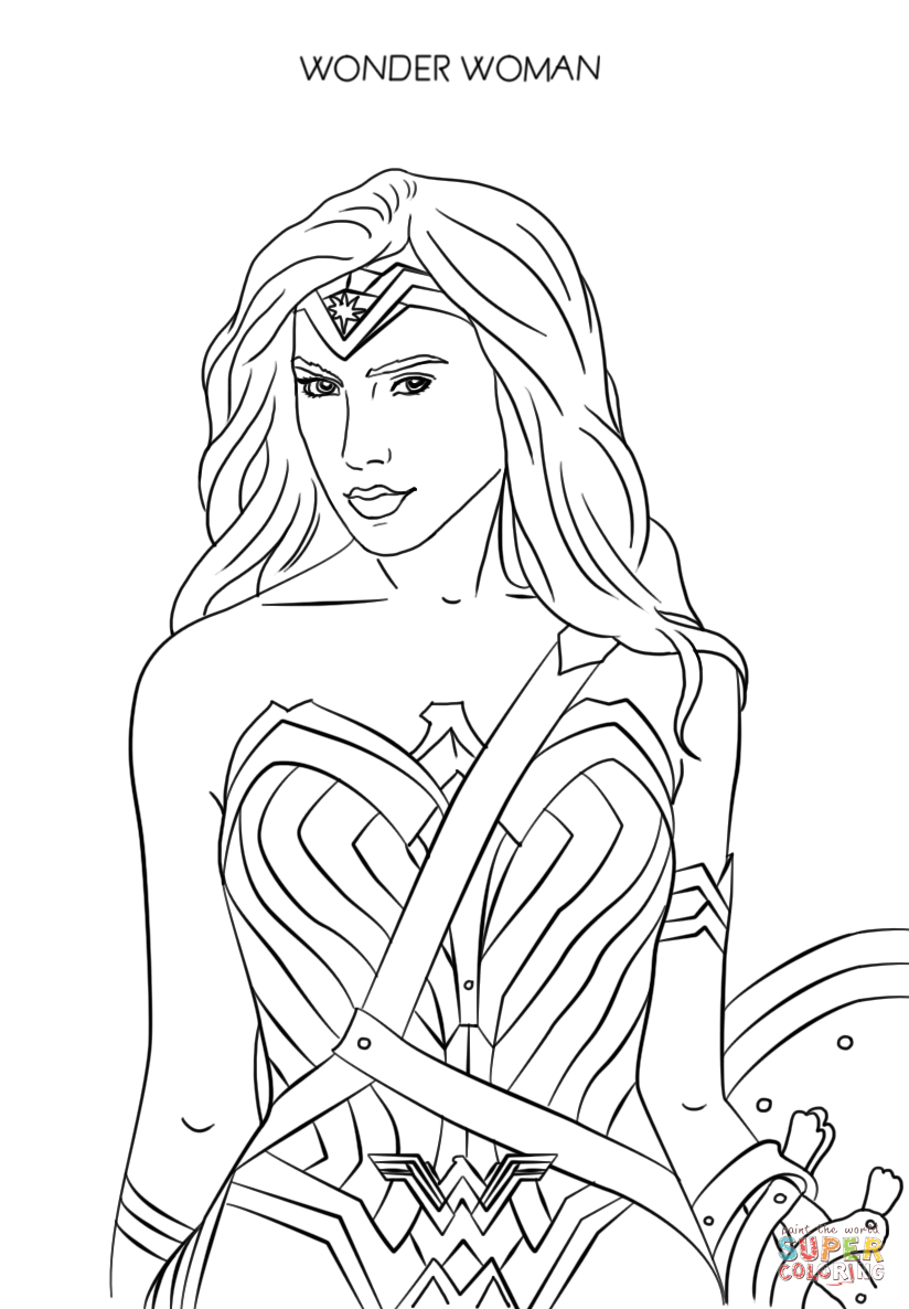 Wonder Woman 2017 Coloring Page Free Printable Coloring Pages