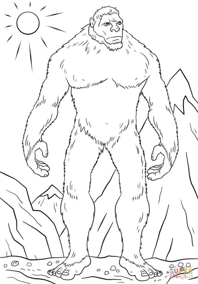 Abominable Snowman coloring page  Free Printable Coloring Pages