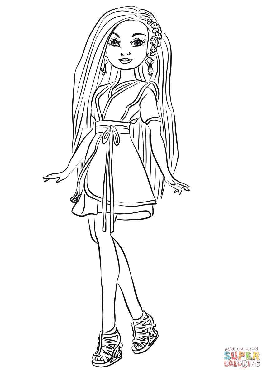 Lonnie From Descendants Wicked World Coloring Page Free