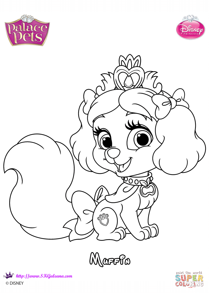 Muffin Princesss Coloring Page Free Printable Coloring Pages