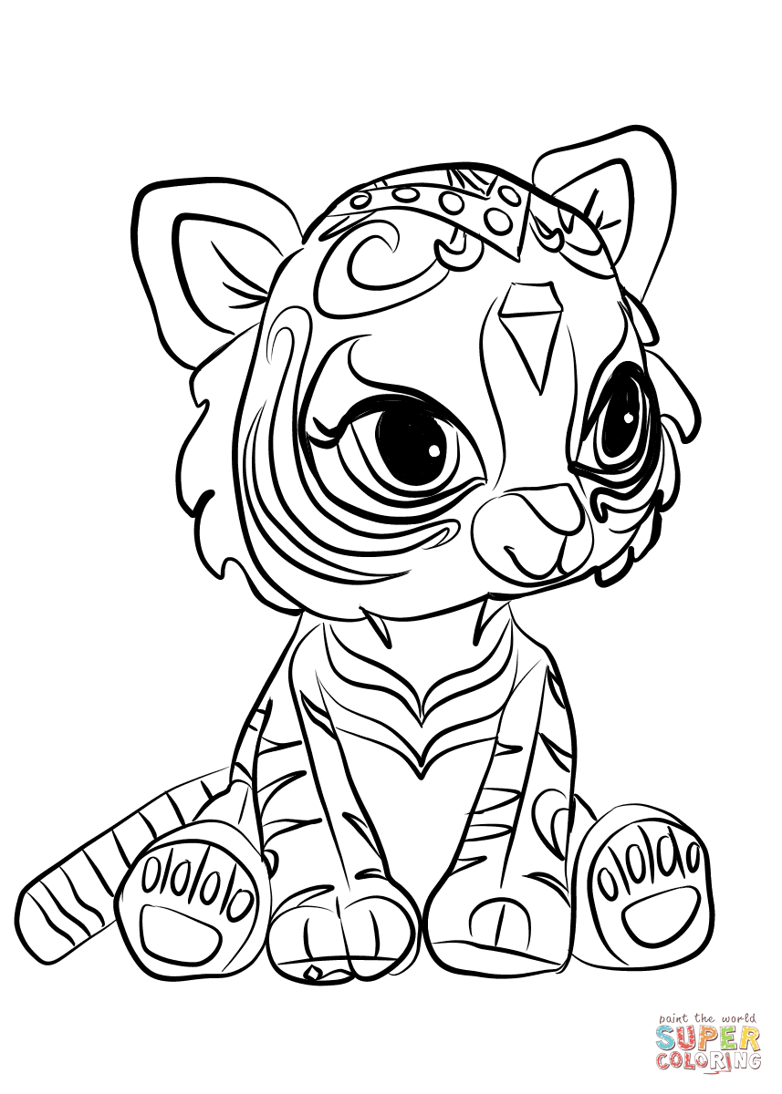 Nahal From Shimmer And Shine Coloring Page Free Printable