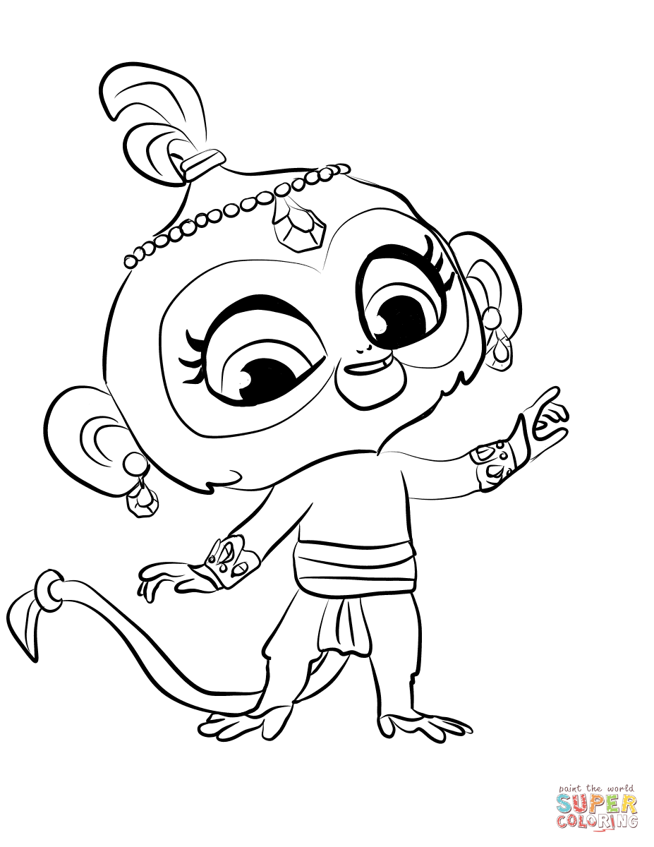 Tala From Shimmer And Shine Coloring Page Free Printable Coloring Pages