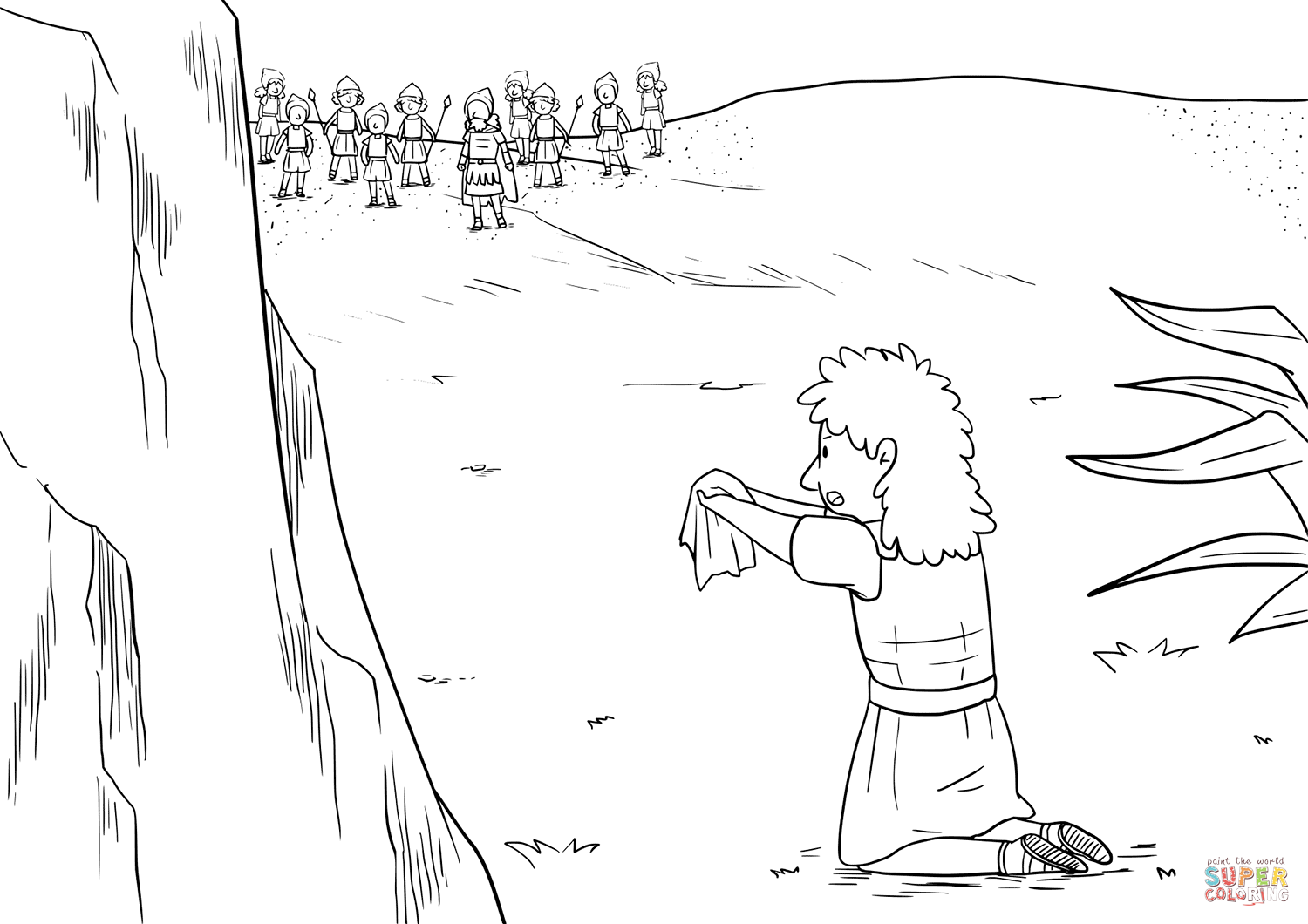 Christianity Bible King Saul Coloring Pages Printable