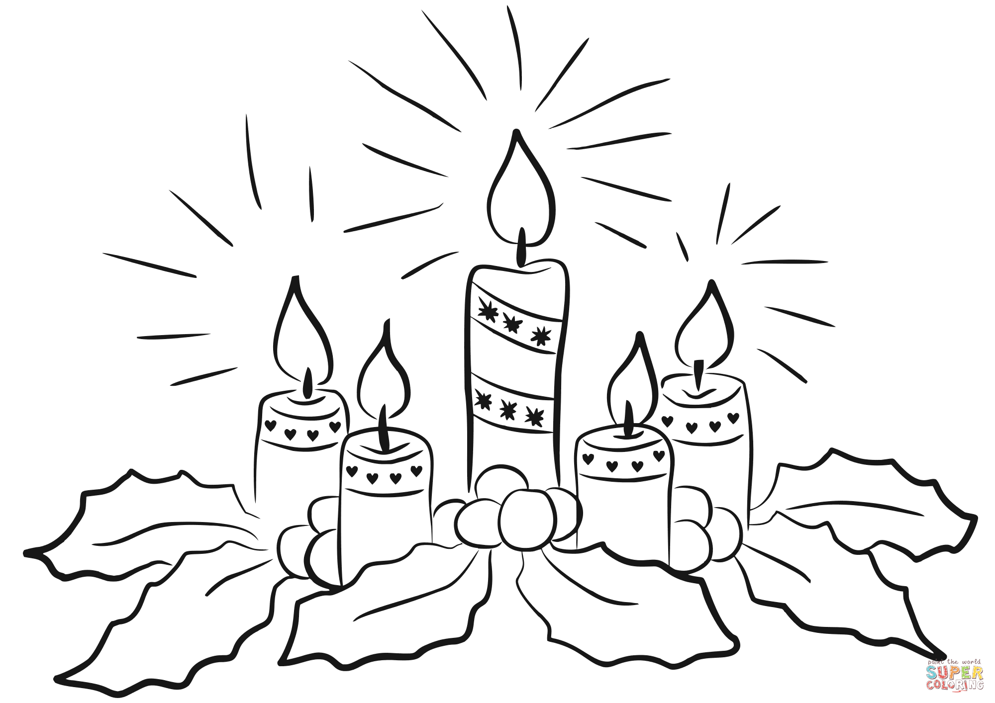 Advent Sheet Coloring Candles