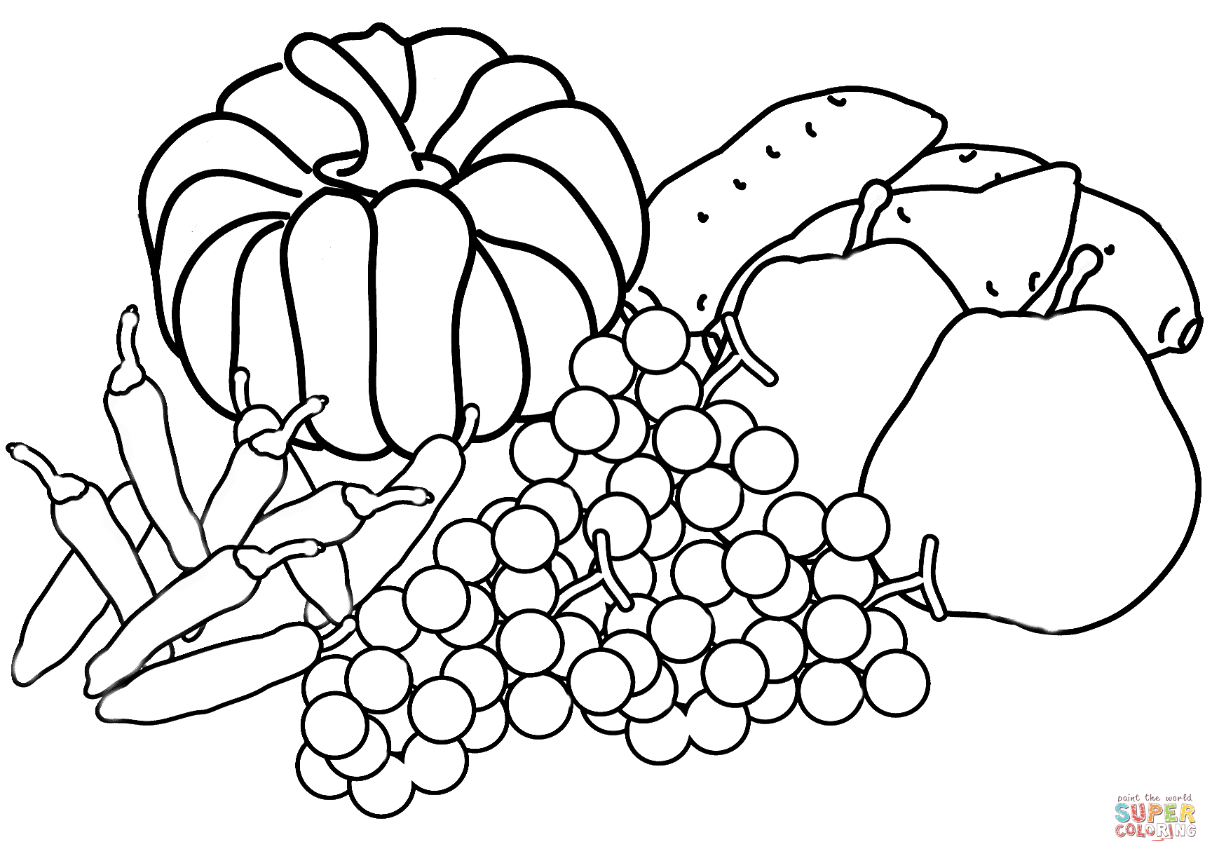 Autumn Harvest Coloring Page