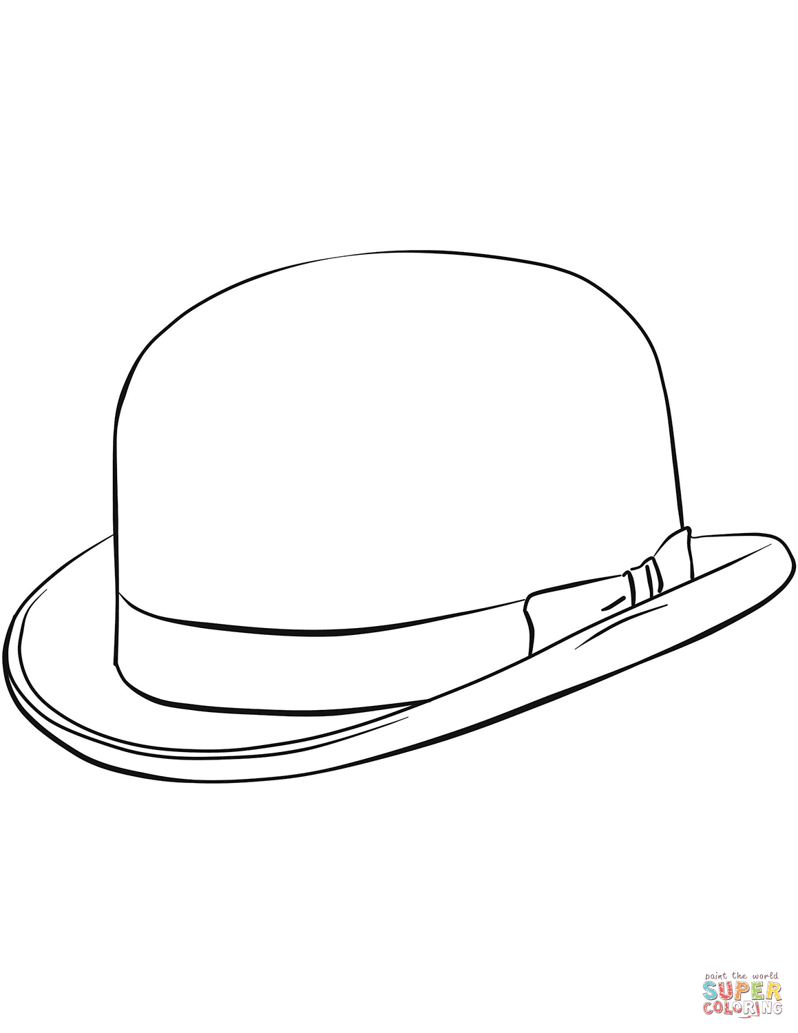 Bowler Hat Coloring Page