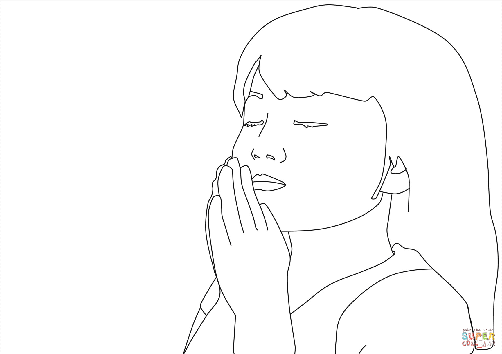 Girl Prayer Coloring Page