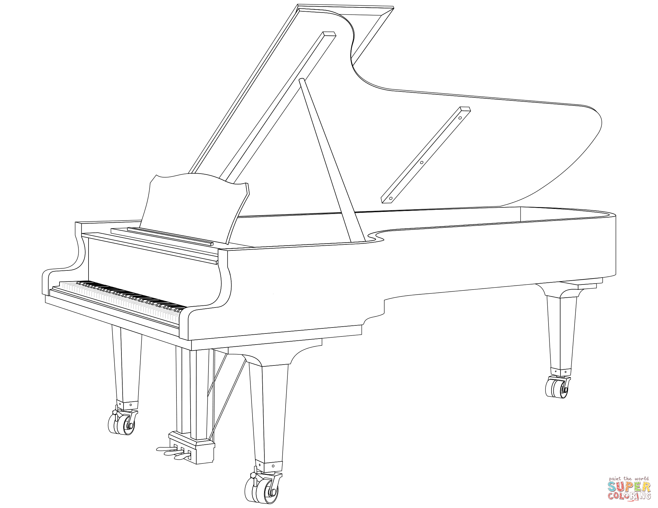 Grand Piano Page Coloring Pages