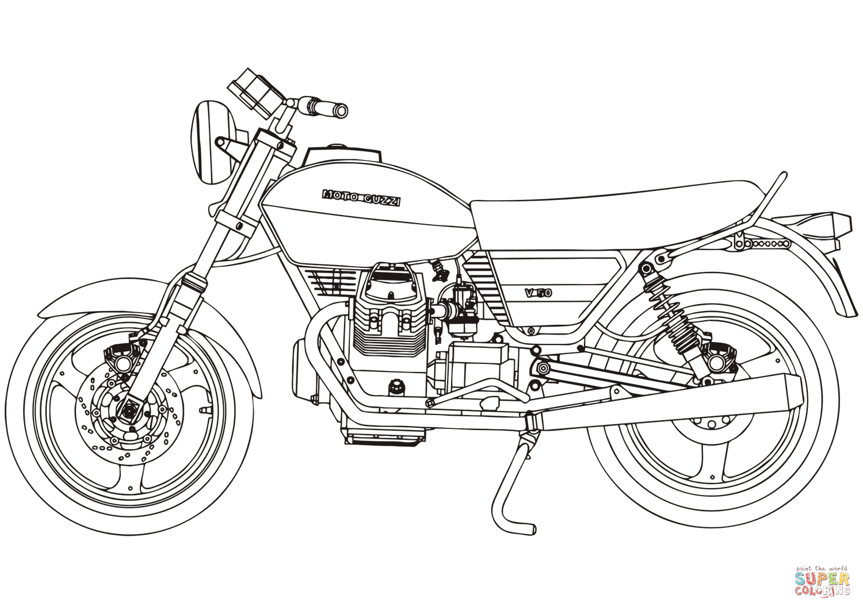 Moto Guzzi V50 Coloring Page